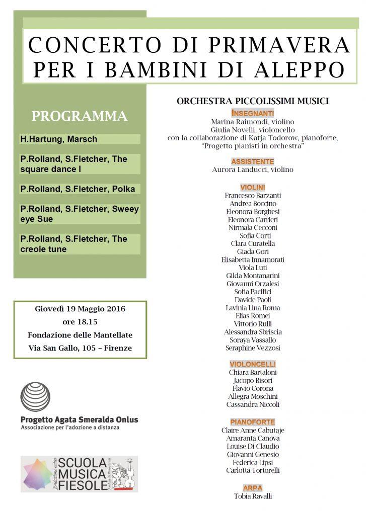 Programma concerto 19 maggio 2016